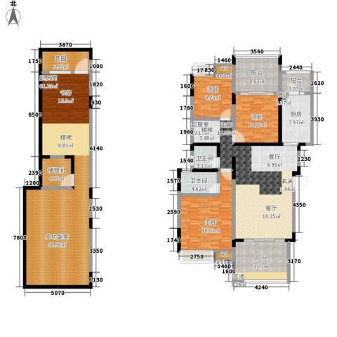 美的林城时代3室0厅2卫1厨190.69㎡户型图