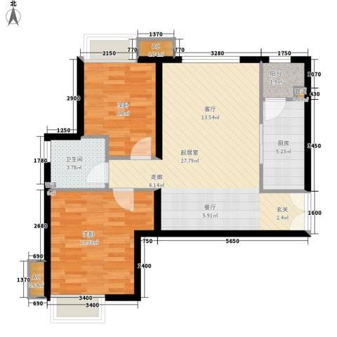 A9公馆2室0厅1卫1厨127.00㎡户型图