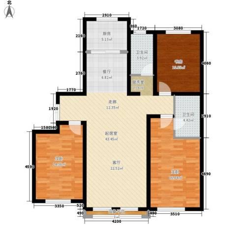 萨尔斯堡3室0厅2卫1厨147.00㎡户型图
