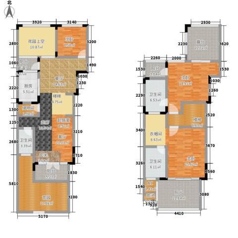 美的林城时代4室0厅3卫1厨150.00㎡户型图