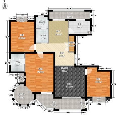 金光大道二期3室0厅2卫1厨137.00㎡户型图