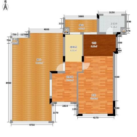 美的林城时代1室0厅1卫0厨191.00㎡户型图