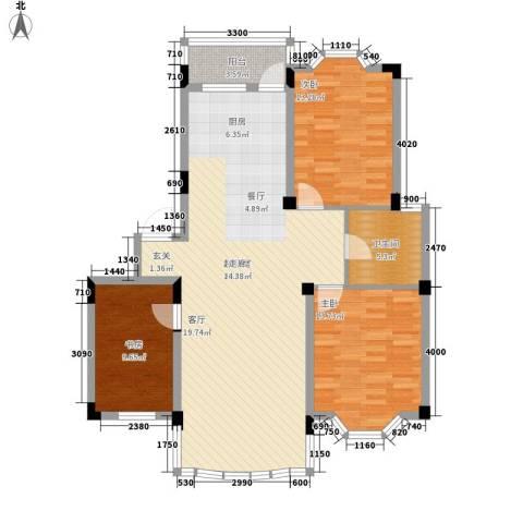 四季华庭3室0厅1卫0厨107.00㎡户型图