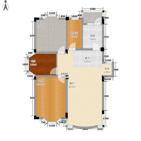 四季华庭2室0厅1卫1厨103.00㎡户型图