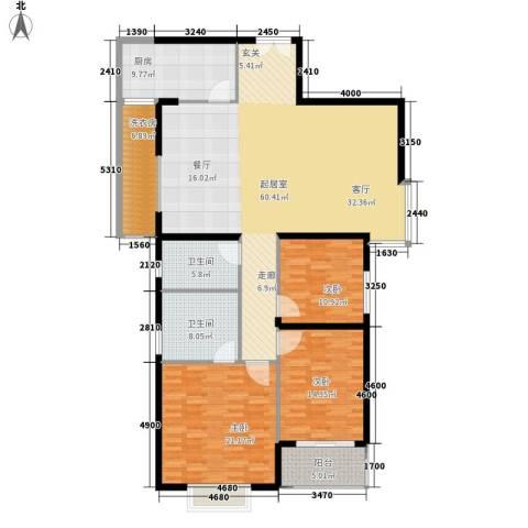 豪盛花园3室0厅2卫1厨150.00㎡户型图