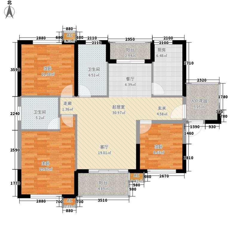 保利华都113.55㎡三期D2面积11355m户型