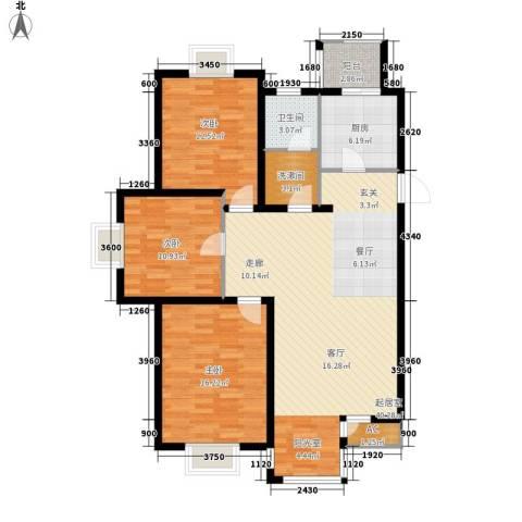 第六大道第博雅园3室0厅1卫1厨120.00㎡户型图