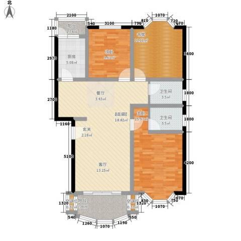 四季华庭3室0厅2卫1厨107.00㎡户型图