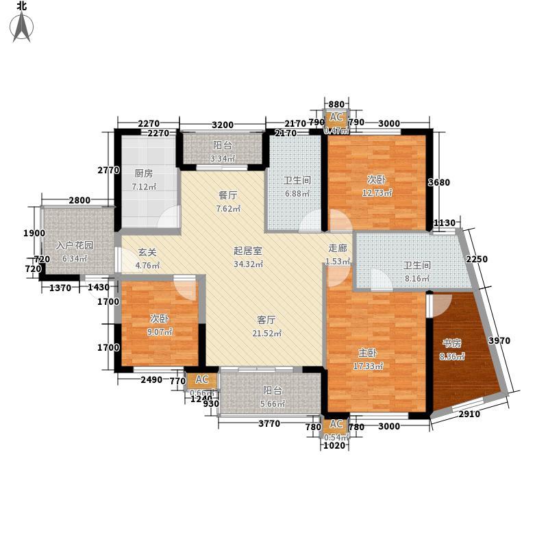 保利华都137.65㎡三期D3面积13765m户型
