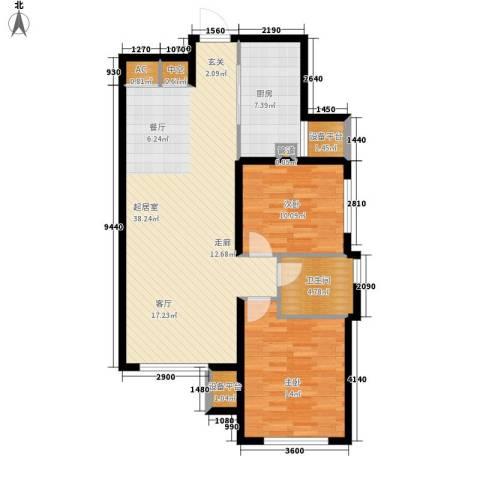 西美70后院2室0厅1卫1厨90.00㎡户型图
