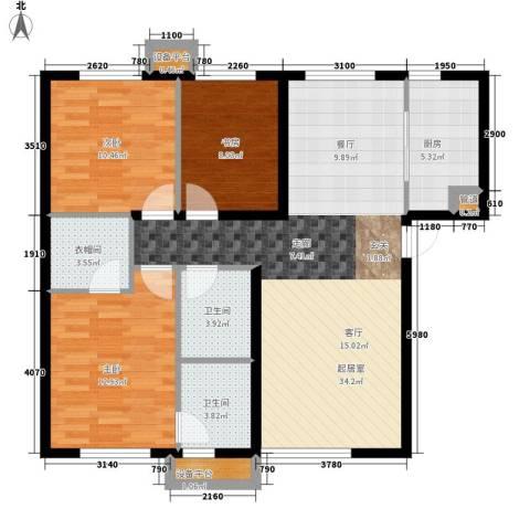 西美70后院3室0厅2卫1厨118.00㎡户型图