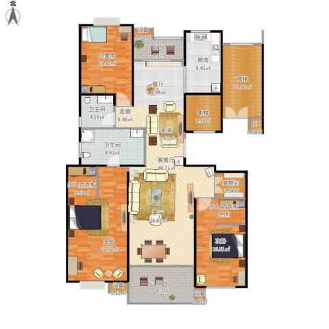 京门府3室1厅2卫1厨219.00㎡户型图
