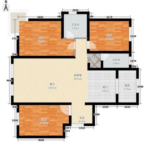 萨尔斯堡3室0厅2卫1厨157.00㎡户型图
