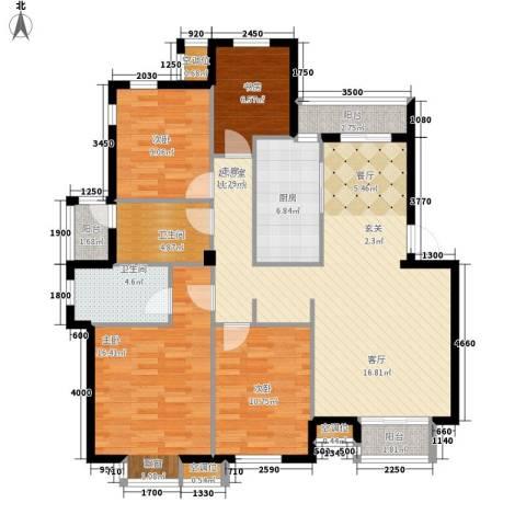 豪都花园4室0厅2卫1厨147.00㎡户型图