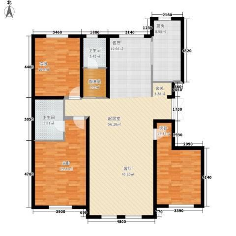 萨尔斯堡3室0厅2卫1厨178.00㎡户型图