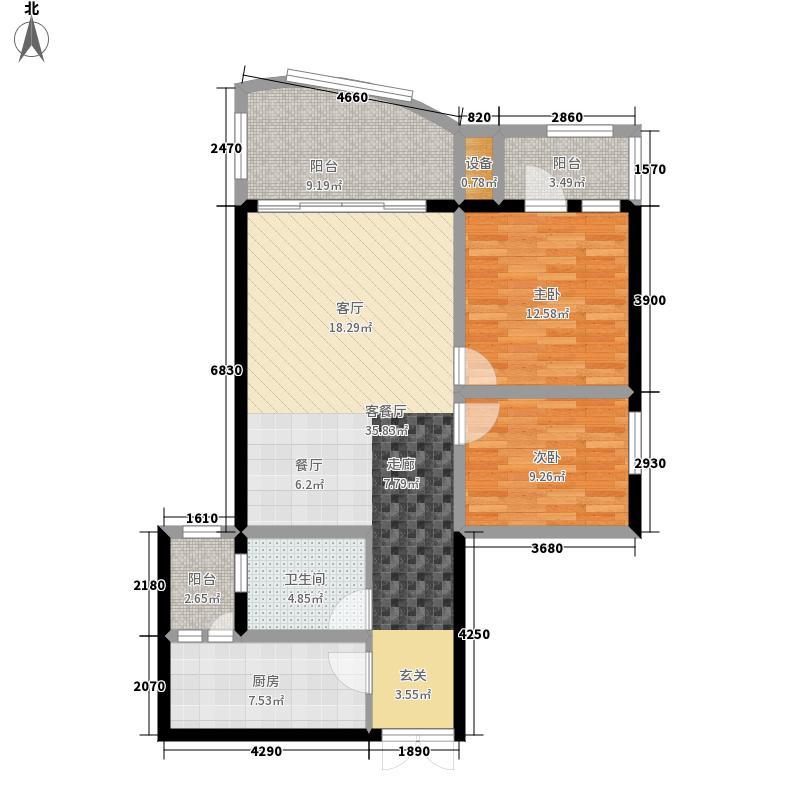 摩卡空间户型图(1/10张)
