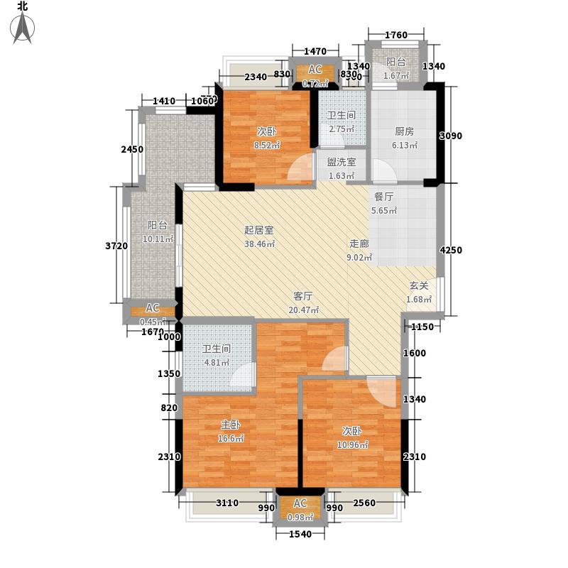 融侨城131.00㎡C1户型3室2厅