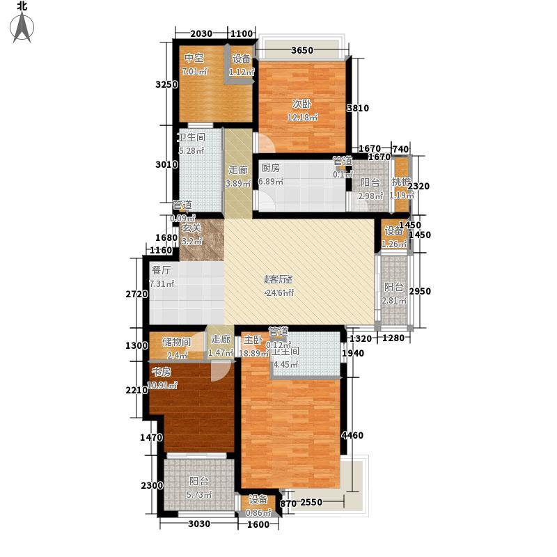 天山城143.00㎡62号楼标准层4户型