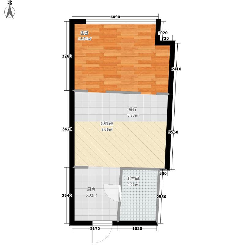 蚂蚁工房43.00㎡面积4300m户型