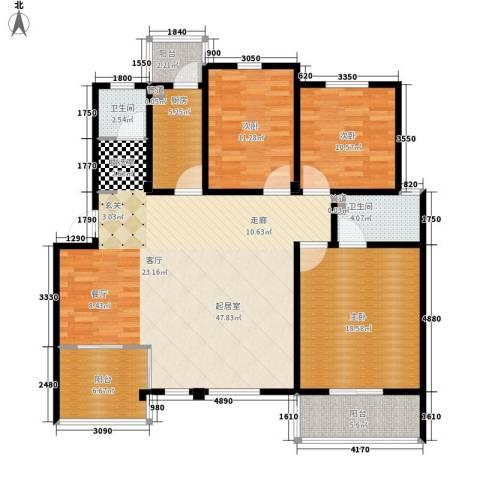 洪城比华利3室0厅2卫1厨160.00㎡户型图