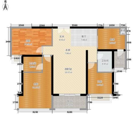 东风广场3室0厅2卫1厨121.00㎡户型图
