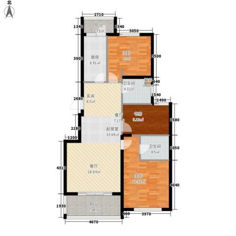 奥园印象高迪3室0厅2卫1厨110.48㎡户型图