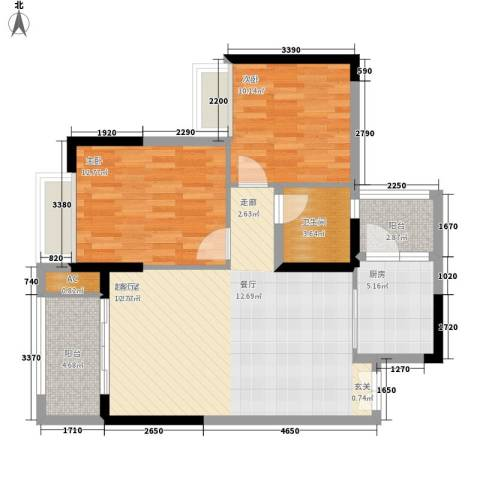 恒春凤凰城2室0厅1卫1厨98.00㎡户型图