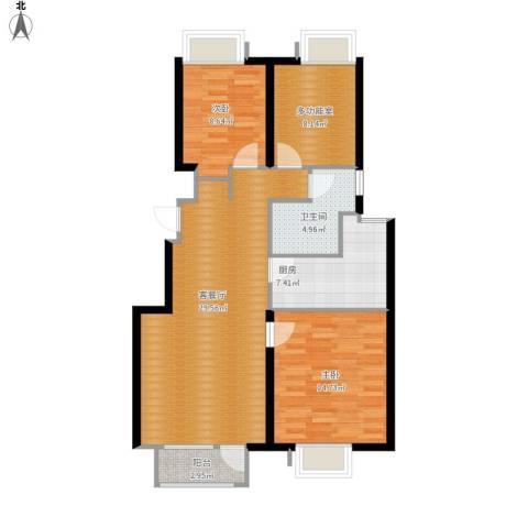 首创·澜茵山2室1厅1卫1厨107.00㎡户型图