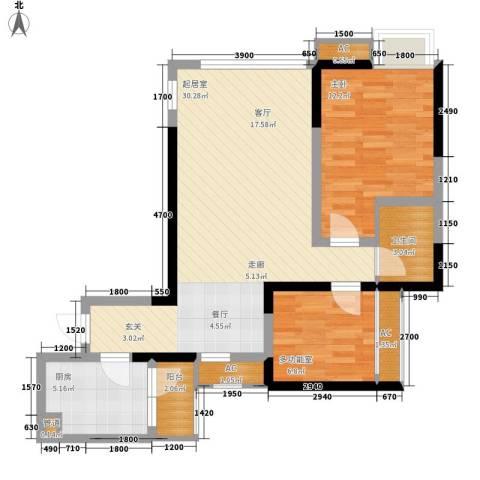 绿云国际纺织服装城1室0厅1卫1厨84.00㎡户型图