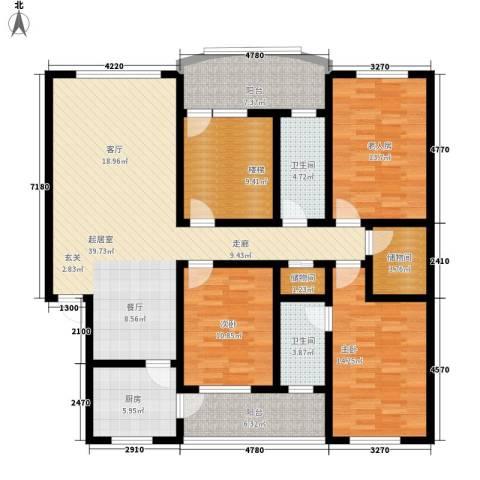 左岸春天3室0厅2卫1厨141.00㎡户型图