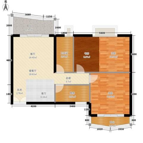 世纪佳园2室1厅1卫1厨108.00㎡户型图