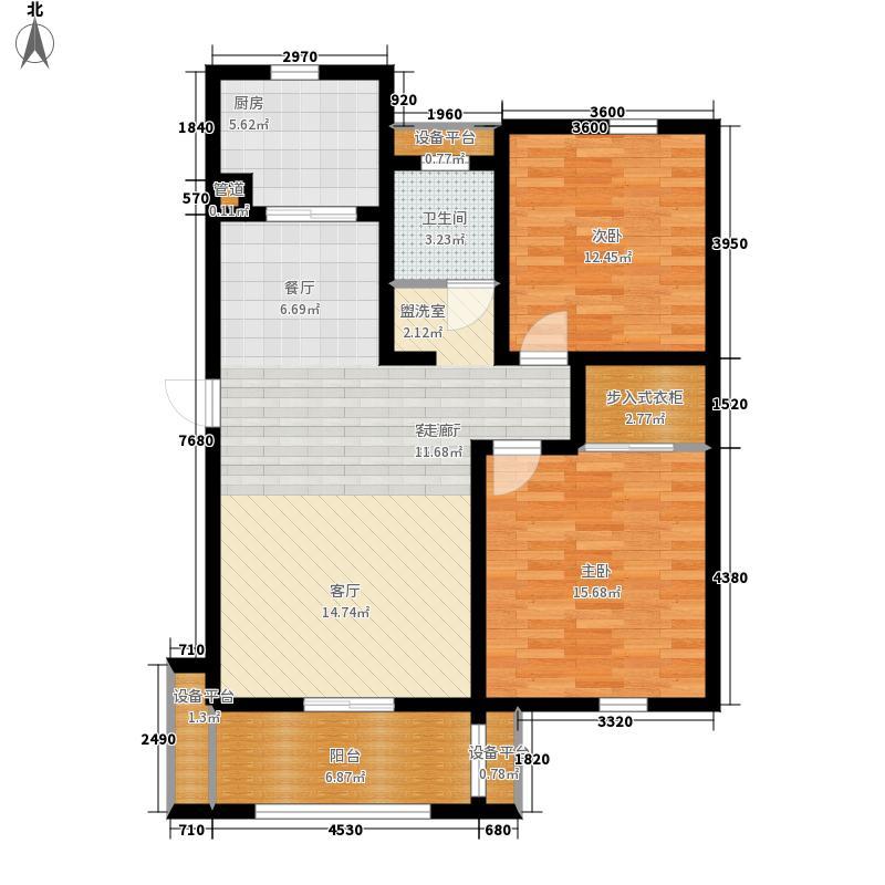新新家园94.00㎡A21面积9400m户型