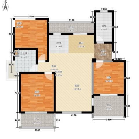 洪城比华利3室0厅1卫1厨152.00㎡户型图