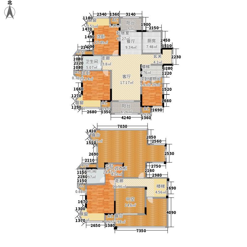 苏宁睿城139.74㎡一期2号楼18层E面积13974m户型