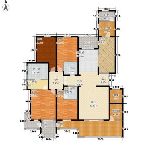 中海御湖1号4室0厅3卫0厨285.00㎡户型图