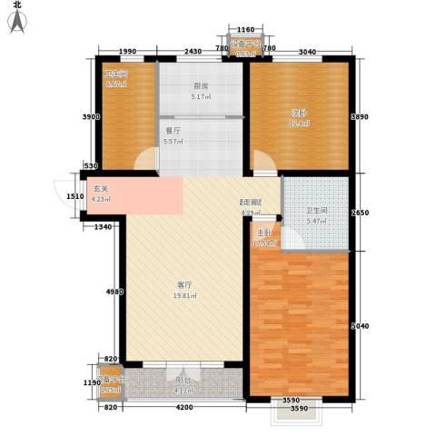东一时区2室0厅2卫1厨122.00㎡户型图