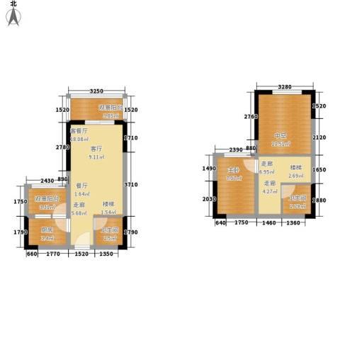 首创iHOME1室1厅2卫1厨58.46㎡户型图