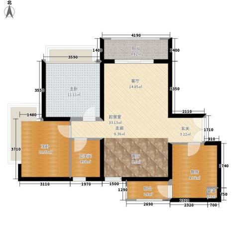 东风广场2室0厅1卫1厨82.00㎡户型图
