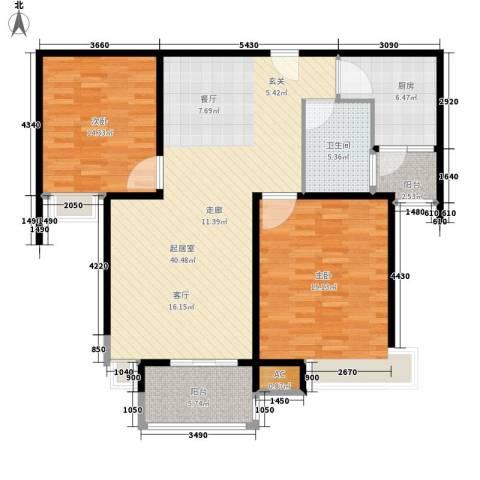 舒诗康庭2室0厅1卫1厨108.00㎡户型图