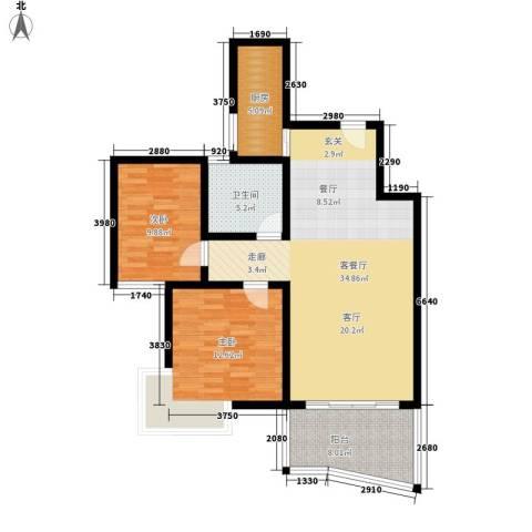 世纪佳园2室1厅1卫1厨89.00㎡户型图