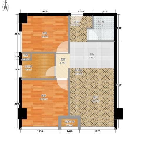 东一时区2室0厅2卫0厨73.00㎡户型图