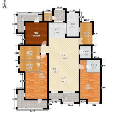 梧桐大道3室1厅3卫1厨210.00㎡户型图