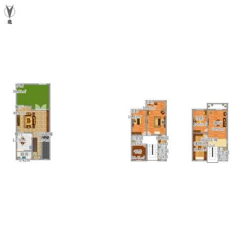 南汇新场别墅4室2厅3卫1厨313.00㎡户型图