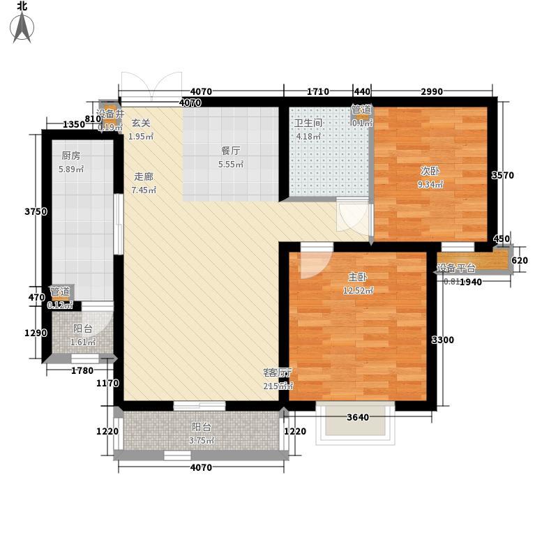 紫韵枫尚94.91㎡高层6号楼标准层C2户型