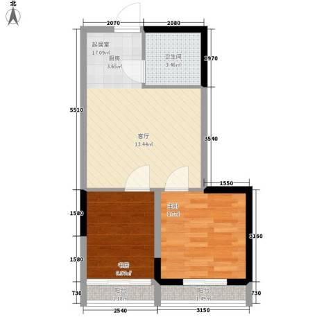 海威大厦2室0厅1卫0厨46.00㎡户型图