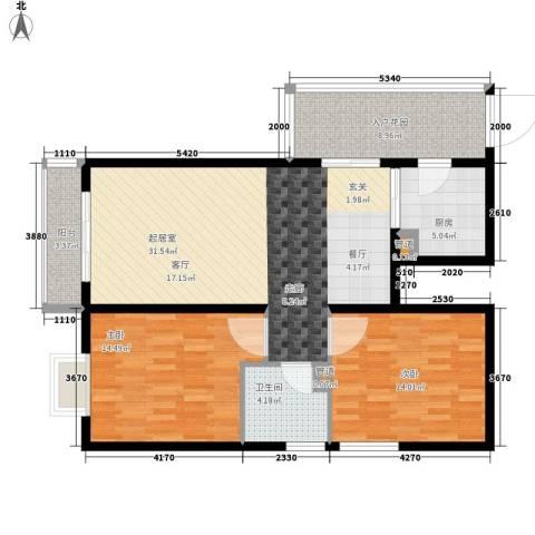 左岸春天2室0厅1卫1厨94.00㎡户型图