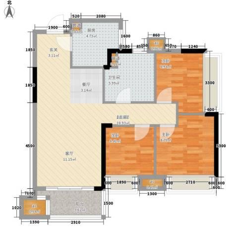 海威大厦3室0厅1卫1厨120.00㎡户型图