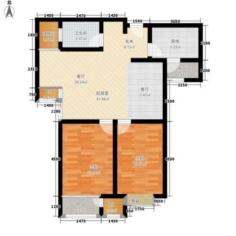 钱隆学府2室0厅1卫1厨89.00㎡户型图