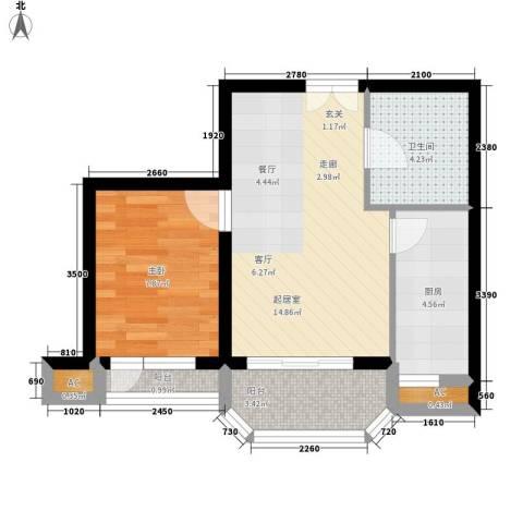 罗马世纪城1室0厅1卫1厨60.00㎡户型图