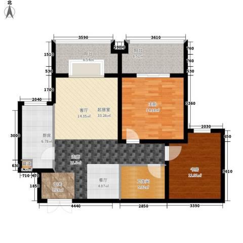 左岸春天2室0厅1卫1厨101.00㎡户型图